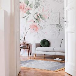 Papier peint design auto adhésif PANORAMIQUE - Dreaming Magnolias - plusieurs dimensions AP Decoration
