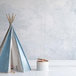 Papier peint design auto adhésif PANORAMIQUE - Enchanted Forest Blue - plusieurs dimensions