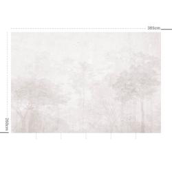 Papier peint design auto adhésif PANORAMIQUE - Enchanted Forest Grey - plusieurs dimensions AP Decoration