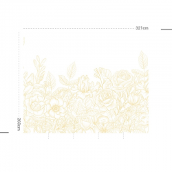 Papier peint design auto adhésif PANORAMIQUE - Fantasy Garden Amarillo - plusieurs dimensions AP Decoration