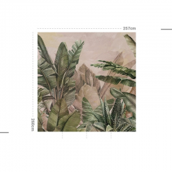 Papier peint design auto adhésif PANORAMIQUE - Orinoco - plusieurs dimensions AP Decoration