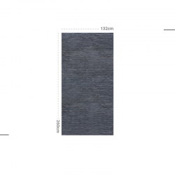 Papier peint design auto adhésif PANORAMIQUE - Brick Blue Dark - plusieurs dimensions