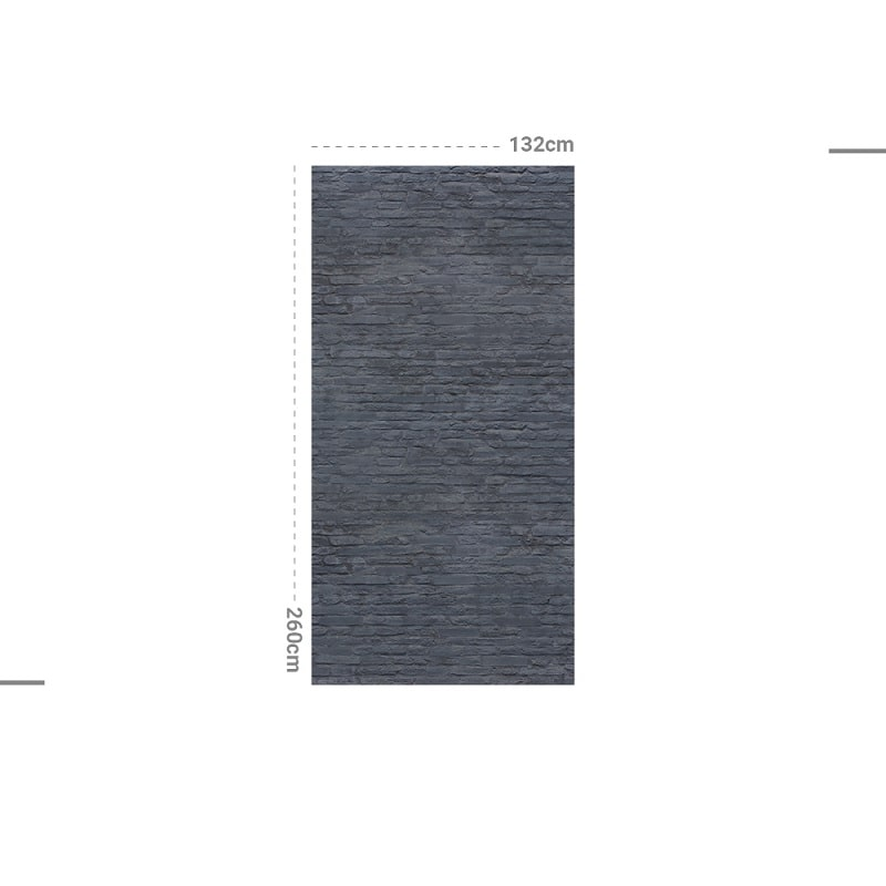 Papier peint design auto adhésif PANORAMIQUE - Brick Blue Dark - plusieurs dimensions - zoom