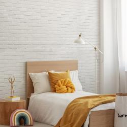 Papier peint design auto adhésif PANORAMIQUE - Brick Pure White - plusieurs dimensions