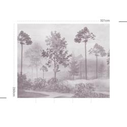 Papier peint design auto adhésif PANORAMIQUE - Magic Forest Malva - plusieurs dimensions AP Decoration