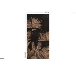 Papier peint design auto adhésif PANORAMIQUE - Tropic fever black - plusieurs dimensions AP Decoration