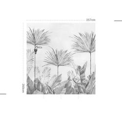 Papier peint design auto adhésif PANORAMIQUE - Tropic fever soft - plusieurs dimensions AP Decoration
