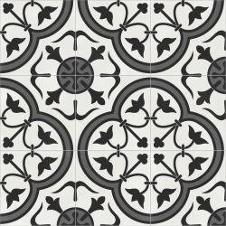 Carrelage quadrillage effet ciment - Rectifié - Vienna Gloriette Natural 59.2x59.2 cm - 1,402m²