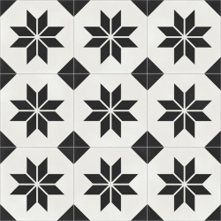 Carrelage quadrillage effet ciment - Rectifié - Vienna Belvedere Natural 59.2x59.2 cm - 1,402m²