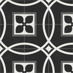 Carrelage quadrillage effet ciment rectifié - Vienna Secession Natural 59.2x59.2 cm - R10 - 1,402m²
