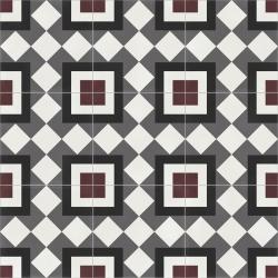 Carrelage quadrillage effet ciment rectifié - Vienna Urania Natural 59.2x59.2 cm - R10 - 1,402m²