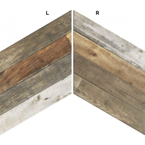 Carrelage losange imitation bois 70x40 DIAMOND PALLET CHEVRON MIX - 0.98m² Realonda