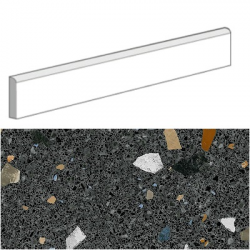 Plinthes carrelage style granito coloré 80x80 cm STRACCIATELLA-R Grafito - 12mL (15 plinthes)