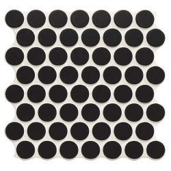 Carrelage imitation mosaïque 30,9x30,9 cm CIRCLE BLACK - 0.86m²