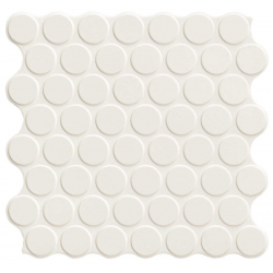 Carrelage imitation mosaïque 30,9x30,9 cm CIRCLE WHITE - 0.86m²