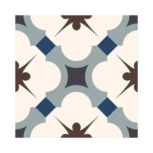 Carrelage style ancien ciment GABARDINE BLEU 16.5x16.5 cm - 0.55m² GayaFores