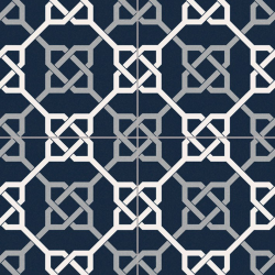 Carrelage style ancien ciment NATTE BLEU 16.5x16.5 cm - 0.55m² GayaFores