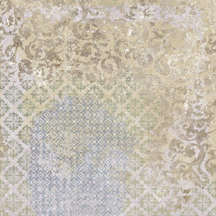 Carrelage décor aux motifs aléatoires BATIK MELANGE 59.2x59.2 cm Rectifié - R10 - 1.42m² - zoom