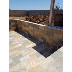 Carrelage piscine effet pierre naturelle SAHARA MIX 30x60 cm R9 - 1.26 m² Savoia