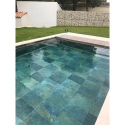 Carrelage piscine effet pierre naturelle MULTICOLOR NATURALE 40.8X61.4 - 1.25M²/BTE