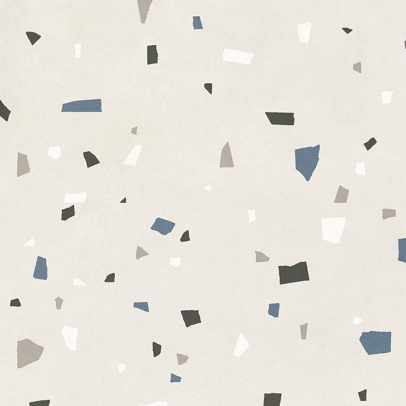Carreau style granito coloré 80x80 cm NAPPAGE DECOR BIANCO -R10- 1.28m² - zoom