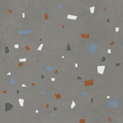 Carreau style granito coloré 80x80 cm NAPPAGE DECOR ANTHRACITE -R10- 1.28m²
