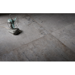 Carrelage imitation pierre DOVER SOOT 80x80 cm - R10 - Rectifié - 1.28m²