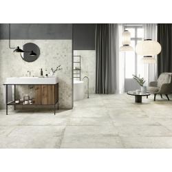 Carrelage imitation pierre DOVER TALC 45x90 cm - R10 - Rectifié - 1.22m²
