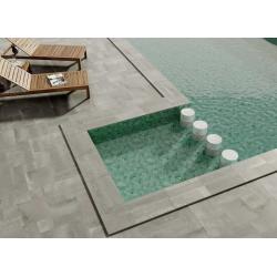 Carrelage tomette vert - effet piscine Bali- 26.5x51 cm HEX ZELLIGE - 0.95m²
