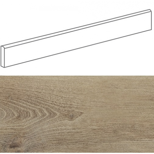 Plinthe imitation parquet bois BELFAST TEAK 10x80 cm - 11.2 ml Baldocer