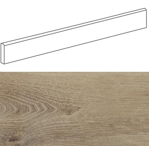 Plinthe imitation parquet bois BELFAST TEAK 10x80 cm - 11.2 ml - zoom