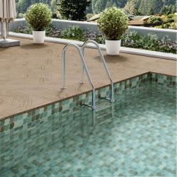 Carrelage piscine créative écaille vert 30x30 SCALE GARDEN - 0.85m²
