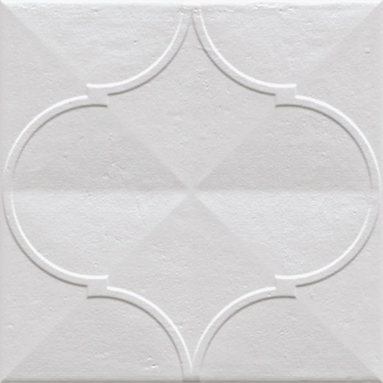 Faience murale brillante blanche PASHTUN BLANCO 20x20cm - 1 m² - zoom