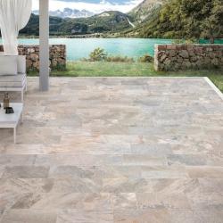 Carrelage pour terrasse effet pierre naturelle CLEVELAND beige 30x60 cm antidérapant R11 - 1.08 m²