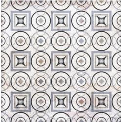Carrelage aspect ciment décoré 20x20 cm MARONI - 0.52 m²