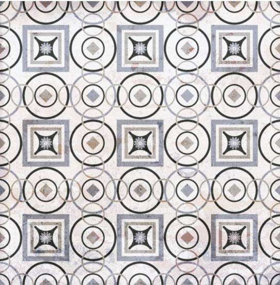 Carrelage aspect ciment décoré 20x20 cm MARONI - 0.52 m² - zoom