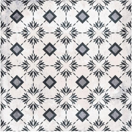 Carrelage aspect ciment décoré 20x20 cm BONTEMPS - 0.52 m² - zoom