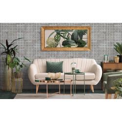Carrelage aspect ciment uni 20x20 cm ADIGE GREEN - 0.52 m² Nanda Tiles