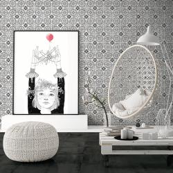 Carrelage aspect ciment uni 20x20 cm ADIGE ANTRACITE - 0.52 m² Nanda Tiles