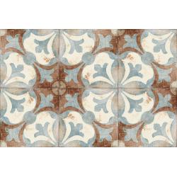Carrelage aspect ciment décoré vieilli 20x20 cm TAMISE - 0.52 m² Nanda Tiles