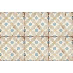 Carrelage aspect ciment décoré vieilli 20x20 cm ORETI - 0.52 m² Nanda Tiles