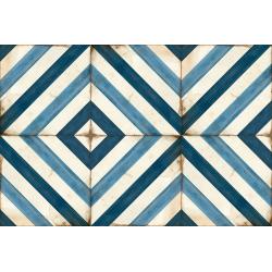 Carrelage aspect ciment décoré vieilli 20x20 cm ELORM - 0.52 m² Nanda Tiles