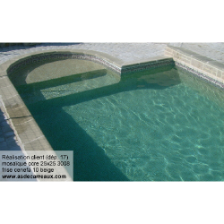 Mosaique piscine antidérapante - Nieve beige ocre orangé 3108 31.6x31.6 cm - 1 m² AlttoGlass