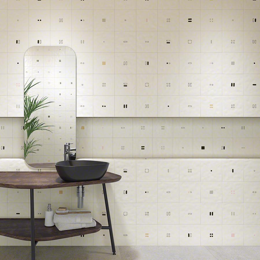 Carrelage décoré 20x20 cm SOIE - 1 m² - zoom