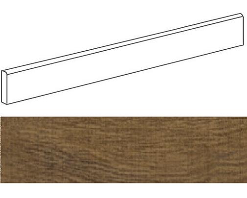 Plinthe aspect bois NOVARE MARRON 9,4X44,3- 23 Unités - zoom