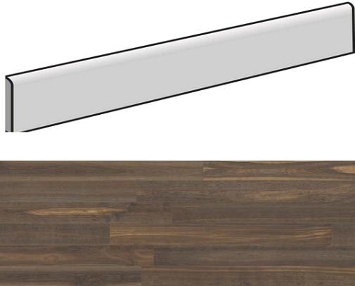 Plinthe aspect bois moderne ANDRIA BRUN grand format - 6,5X120- 8 Unités - zoom