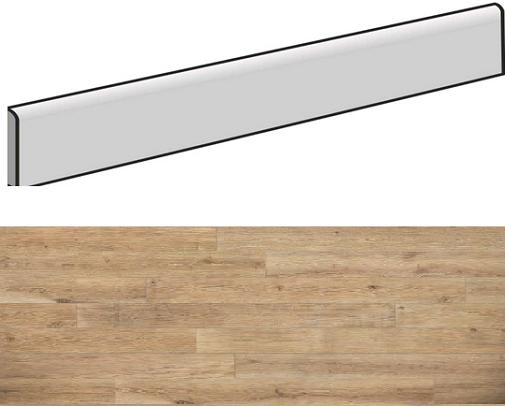 Plinthe aspect bois AREZZO NEUTRO 7,5X90- 4 Unités - zoom