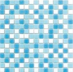 Mosaique piscine Mix Blanc Bleu Swimming 32.7x32.7 cm - 2.14m² - zoom