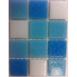 Mosaique piscine Mix Blanc Bleu Swimming 32.7x32.7 cm - 2.14m² Ston