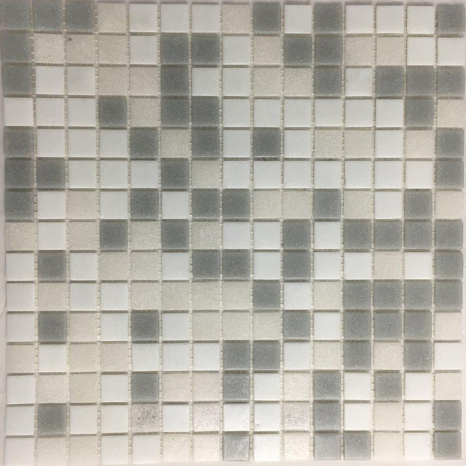 Mosaique piscine Mix beige gris blanc NUVOLA 32.7x32.7 cm - 2.14m² - zoom